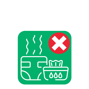 Nappies and wipes must go in the general waste bin